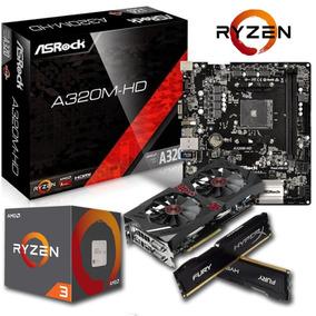 Kit Upgrade Gamer / Ryzen 2200g / 8gb / Gt 710 + Gabinete