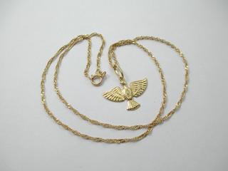 Lindo Colar Espírito Santo - Ouro 18k - 2.2 Gr