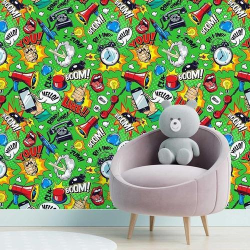 Imagem 1 de 6 de Papel De Parede Adesivo Pop Art Quadrinhos N05010 Rolo De 0,