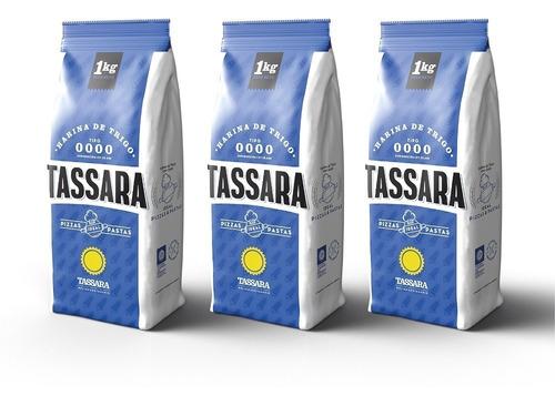 Harina De Trigo 0000 Pack 3 X 1 Kg. Tassara
