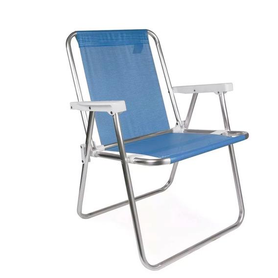 Cadeira Mor Alto Conforto Alumínio Sannet - Azul