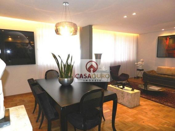 Apartamento Com 3 Dormitórios À Venda, 140 M² Por R$ 600 - Serra - Belo Horizonte/mg - Ap0864