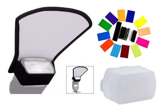 Kit Difusor Rebatedor Luz Color Flash Viltrox Jy680 Completo