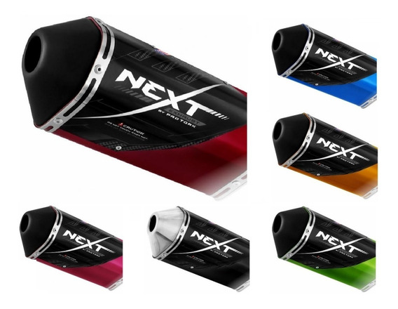 Escapamento Esportivo Next Fazer 250 2010 Vermelho Protork