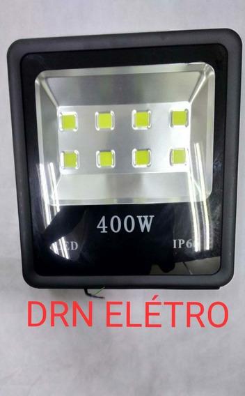 Refletor Holofote Led 400w Branco Frio A Prova D