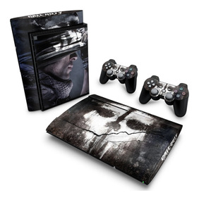 Skin Ps3 Super Slim Adesivo Playstation Call Of Duty Ghosts