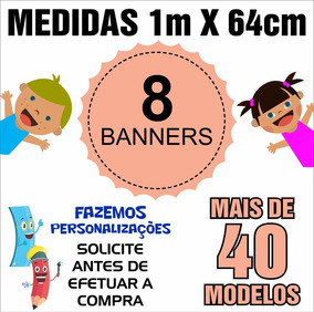 Banner Didático Pedagógico 1m X 64cm - 8 Unids - Cód: Ywz08