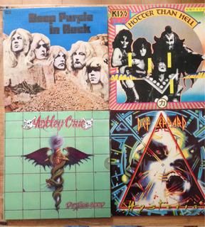 Discos De Vinil Acetato Rock And Roll Heavy Metal
