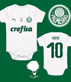 Body Palmeiras Infantil Personalizado