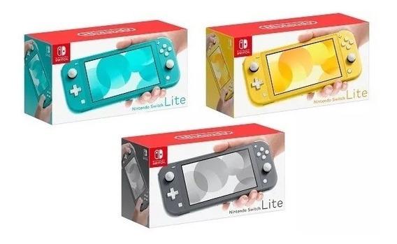 Console Nintendo Switch Lite Cinza + 2 Jogo Aleatorio