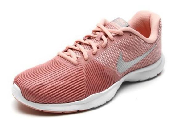 Tênis Nike Feminino Flex Bijoux - Rosa E Prata