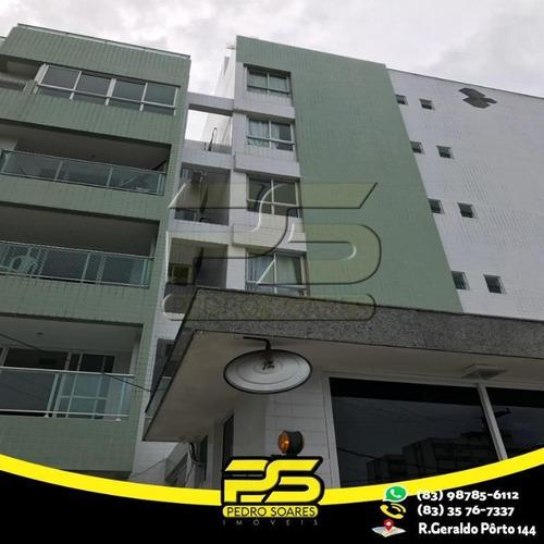 Apartamento  No Cabo Branco À Venda, 60 M² Por R$ 320.000 - Cabo Branco - João Pessoa/pb - Ap2332
