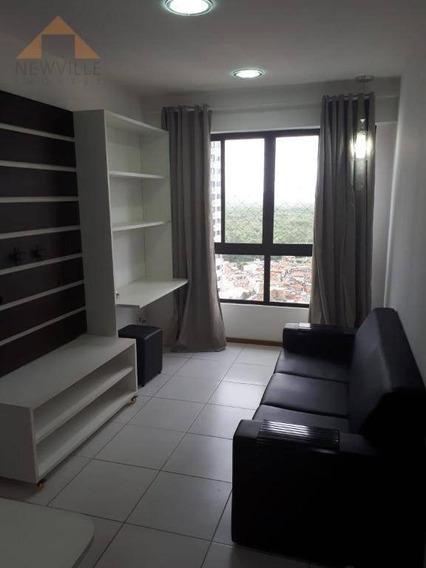 Apartamento Com 2 Quartos Para Alugar, 50 M² Por R$ 2.200/mês - Boa Viagem - Recife/pe - Ap2276