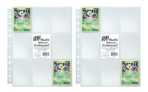 Imagem 1 de 5 de 20 Folhas Plásticas 9 Bolsos Yes Para Álbum Pokemon/magic