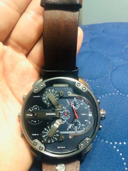 Reloj Diesel 3- Bar Dz7314- Correa Color Cafe