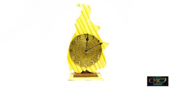 Relógio De Capim Dourado. - Mapa Do Tocantins.