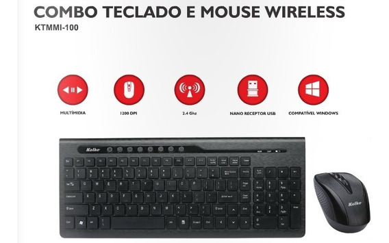 Kit Mouse E Teclado Sem Fio !!!
