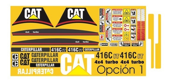 Calcomanías Para Retroexcavadora Caterpillar 416c It