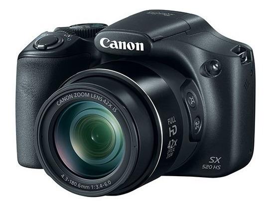 Câmera Cânon Power Shot Sx520-hs - Linda E Novinha