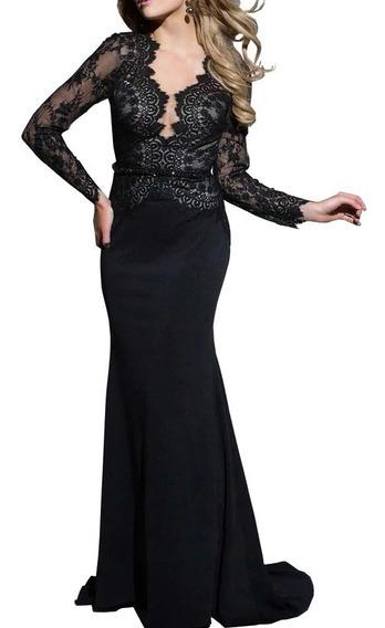 Vestido Elegante Madrina Fiesta Jolie Robe - G11