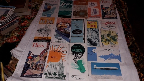Papeleria Antigua Folleteria Pan American Años 50