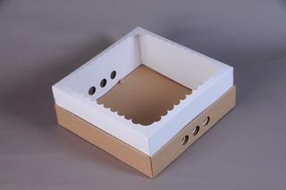 Caja Para Desayuno Con Visor! 30x30x12 (pack X10)
