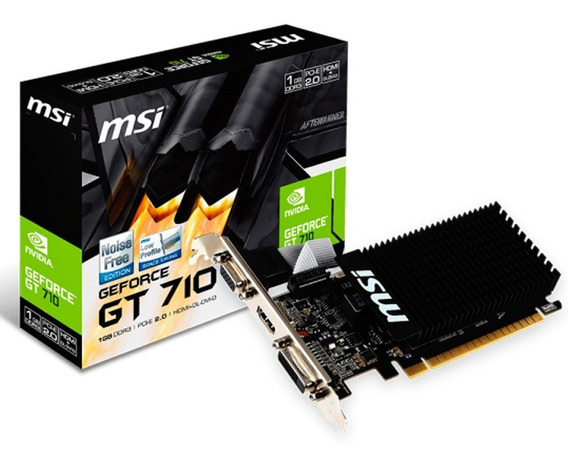 Placa Video Geforce Gt 710 1gb Ddr3 Hdmi Vga Dvi Mexx 1