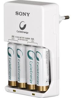 Cargador Sony + 4 Pila Recargable Aa 2500ma - Factura A/b