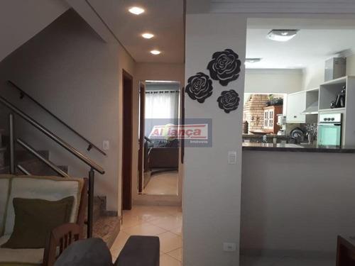 Lindo Sobrado- Condomínio Vila Rosália- 04 Dormitórios-02 Vagas - Cód. So2575 - Ai14353