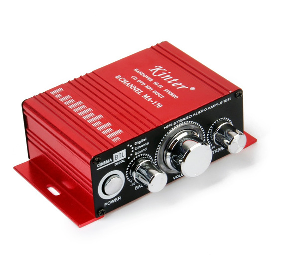 Vermelho Mini Carro Motorcycle Mp3 Oi -fi Amplificador Audit