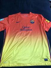 cc2e9c6edf Camisa Barcelona 2013 2014 Away Messi  10 Autografada