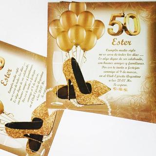 Tarjetas De Invitacion Para 50 Años Mujer En Mercado Libre
