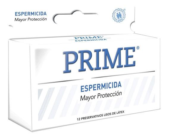 Preservativos Prime Espermicida X12 Unidades Menor Riesgo