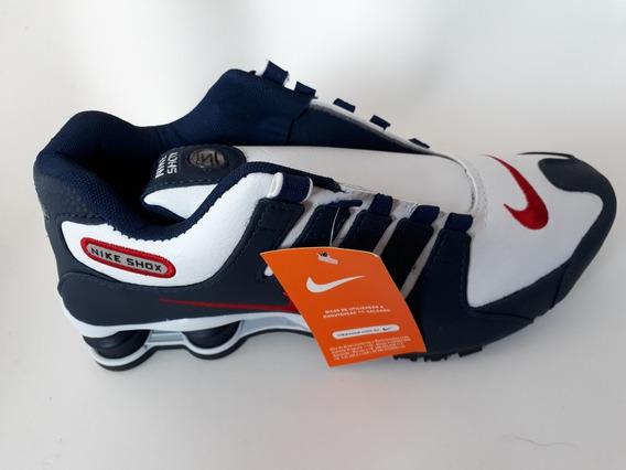 Nike Shox Nz Azul Branco 40 Importado