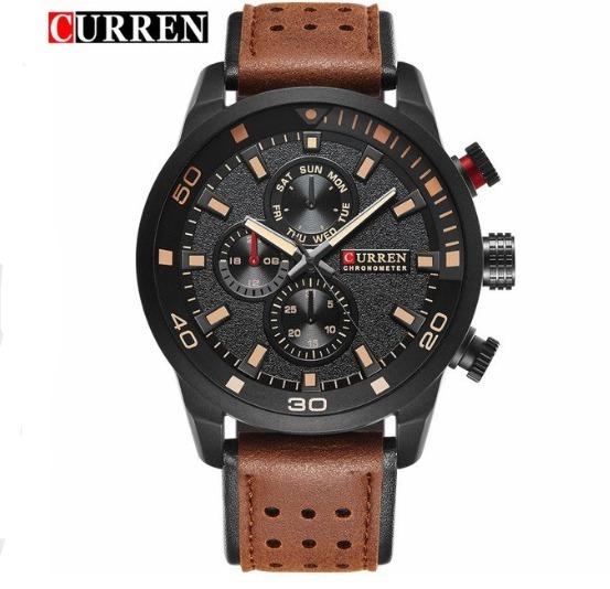 Relógio Masculino Curren Original Luxo Quartzo 8250