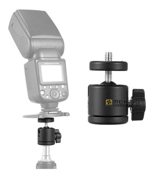 Mini Plataforma Cabeça De Bola 360° Para Câmera Tripé 1/4