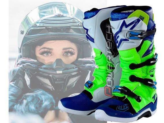 Botas Troy Lee Designs Alpinestars Tech 7 Motocross Flo Yell
