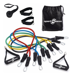 Bandas Elasticas Kit Teratubos Sportfitness Set X5 Ejercicio