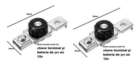 Kit 2 Terminal Bateria / Corta Corrente Moto