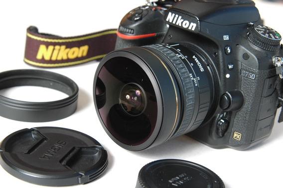 Lente Nikon Sigma 8mm 3.5 Af Olho D Peixe Fisheye 10.5mm