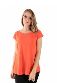 32bf643427 Camisa Manga Curta Feminino Laranja no Mercado Livre Brasil