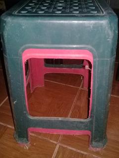 Paquete De 2 Bancos Taburetes Verde Y Rosa