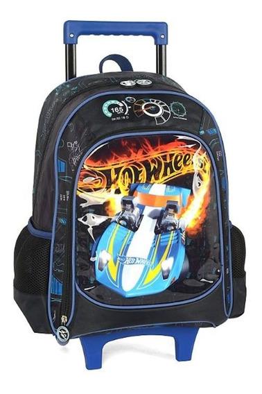 Mochila Escolar Infantil Rodinha Hot Wheels Luxcel 011642