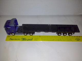 Scania R Carreta Prancha 1:64 28cm Aceito Troca
