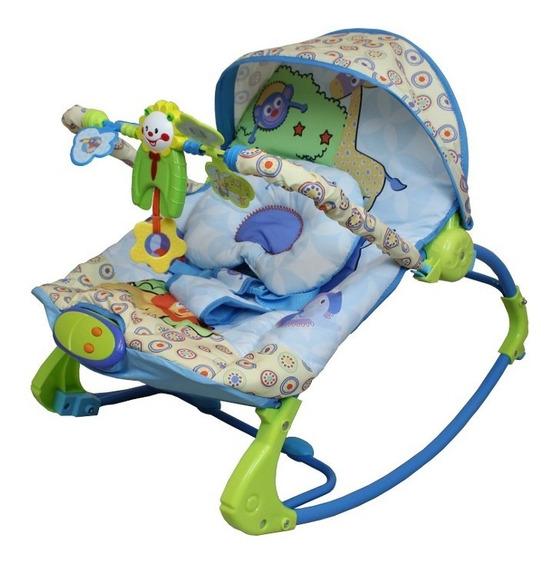 Cadeira Cadeirinha Descanso Musical Rocker Com Balanço Azul