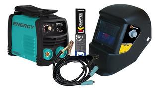 Soldadora Inverter Energy I120 + Máscara + Elect.