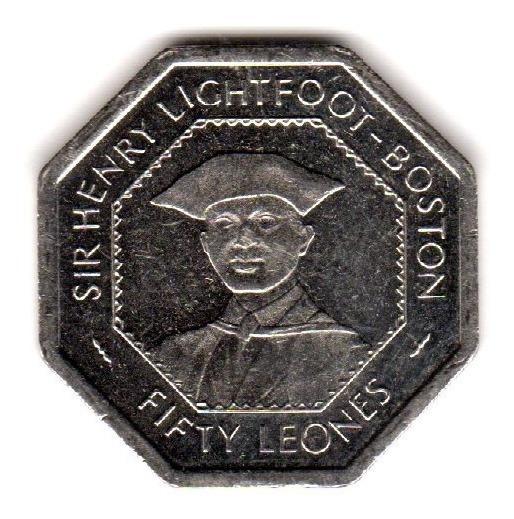 Bkz / Sierra Leona - 50 Leones 1996 Octagonal Sin Circular