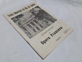 Programa 1968 20/08 Opera Francesa Autografado + Foto