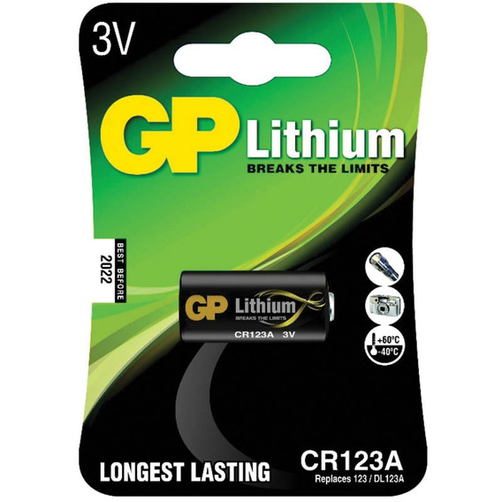 Bateria Lithium Photo Cr123 3v Gp Batteries