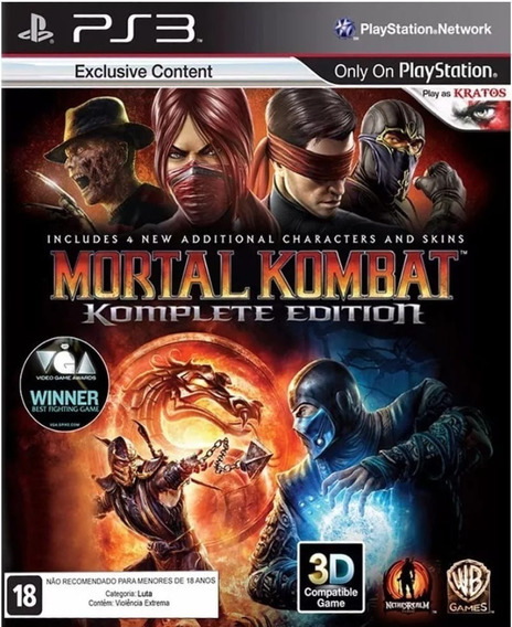 Mortal Kombat Komplet Edition. Jogo Ps3 Em Oferta.